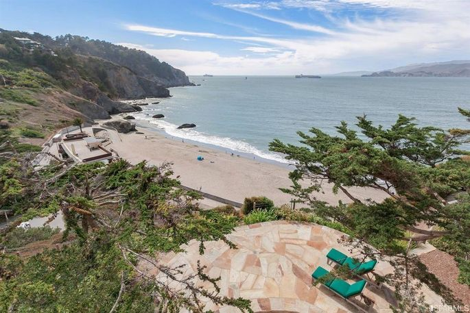 Terrace overlooking China Beach