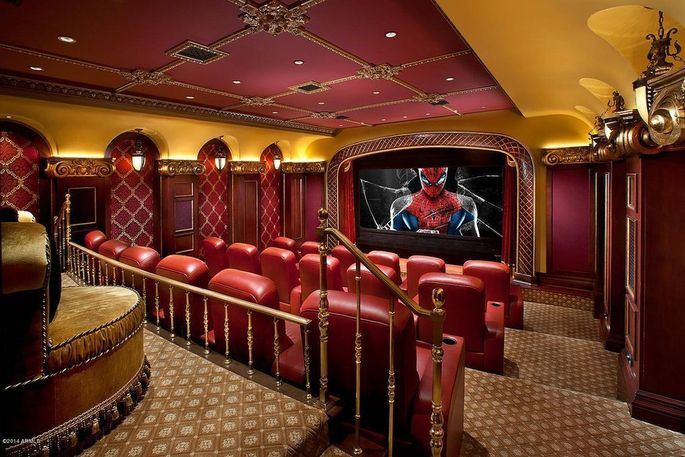 Tiered seating home theater
