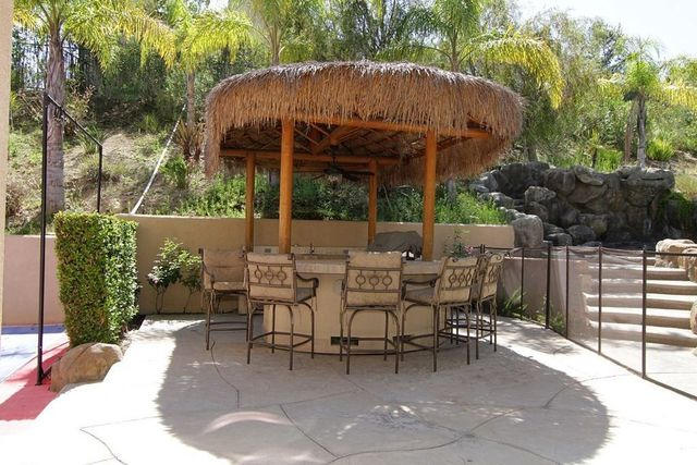 The tiki hut.