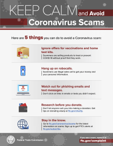 Covid19 FBI Scam Flyer