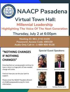 Town Hall on Millennial Leadership flyer