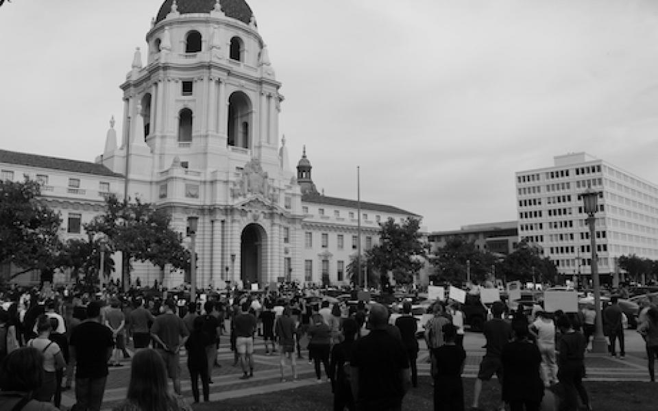 George Floyd Vigil at City Hall