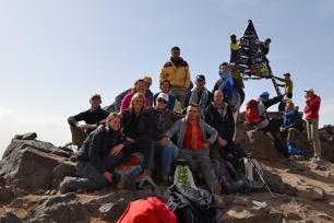 Op de top van de Jebel Toubkal - 4167 meter