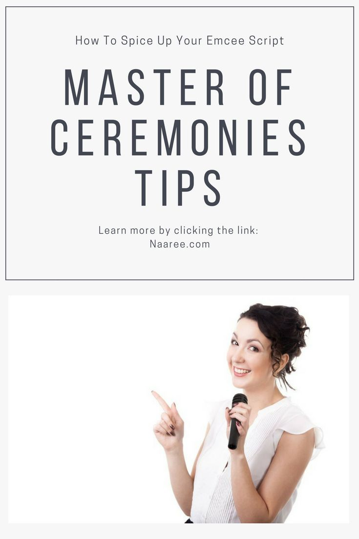 5 Master Of Ceremonies Tips To Spice Up Your Emcee Script 1