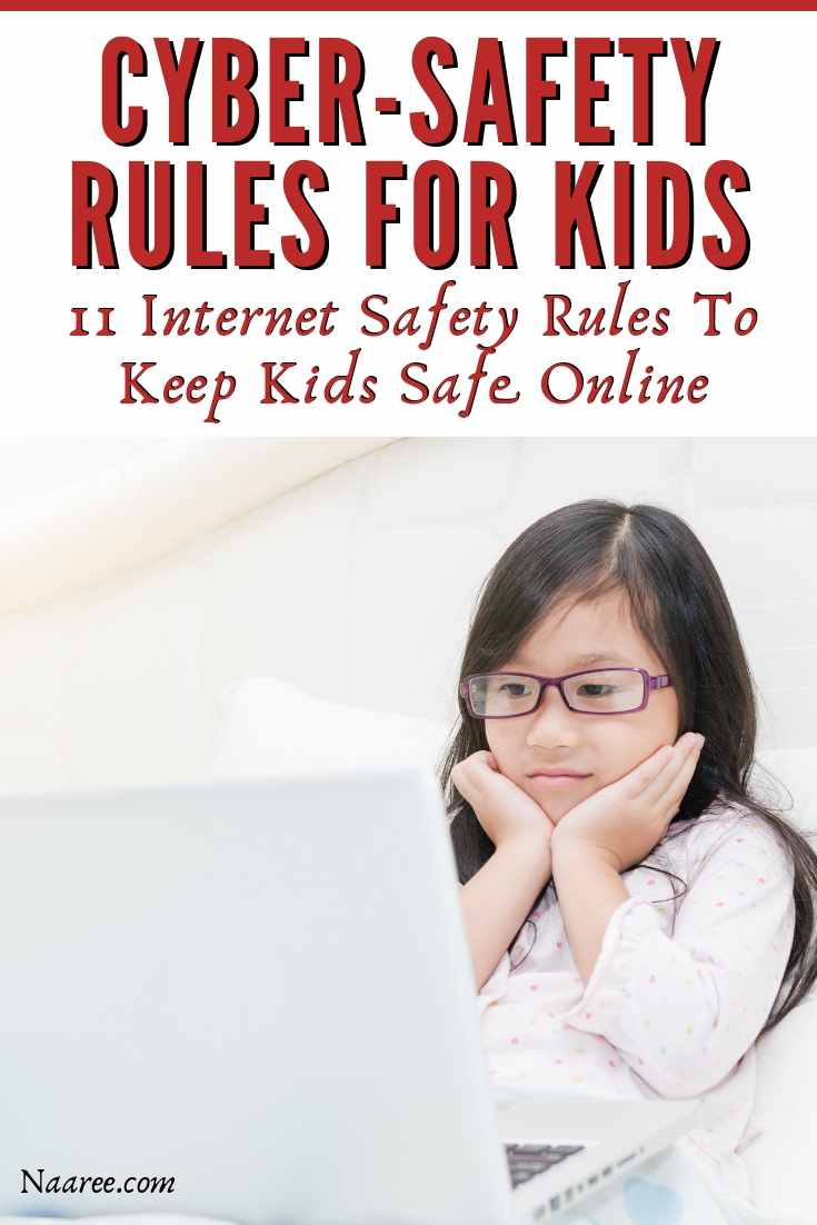Cyber-Safety Rules For Kids Internet Safety Rules To Keep Kids Safe Online