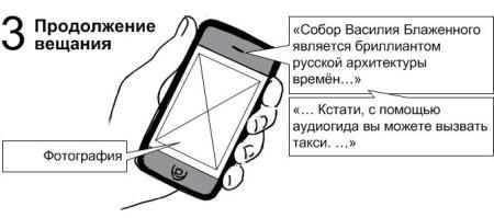 «Собор Василия Блаженного является бриллиантом русской архитектуры времён… Кстати, с помощью аудиогида вы можете вызвать такси. …»