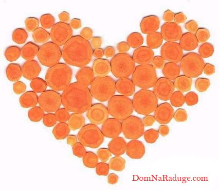 валентинка - морковное сердечко