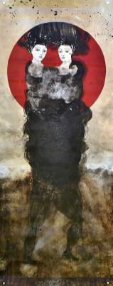 Acrylique sur bâche 70x180 cm