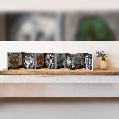 livre artiste artist book miniature leporello