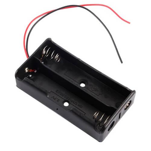 18650 Lithium Battery Holder (2 Slot)