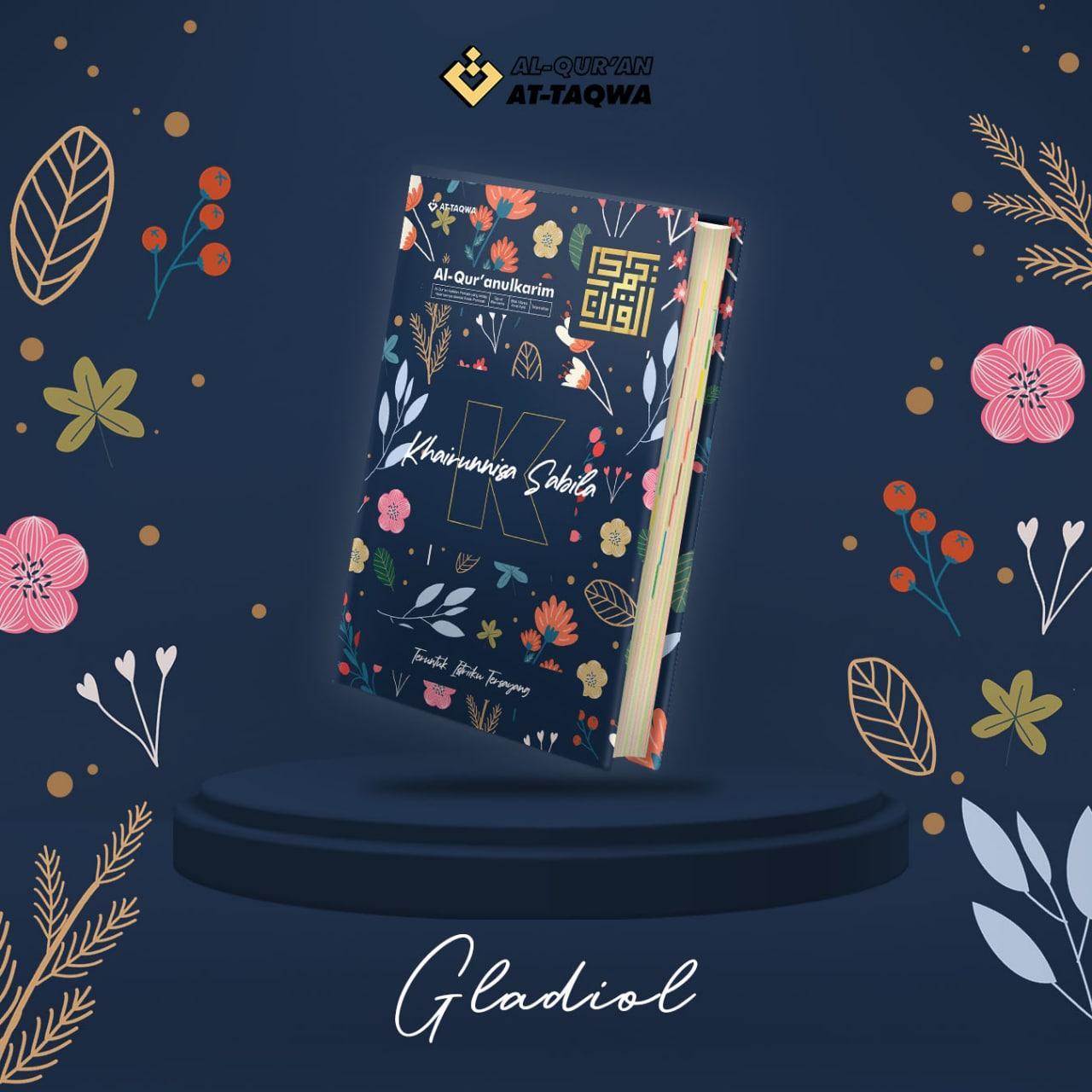Al Quran Floral At Taqwa Navy Gladiol