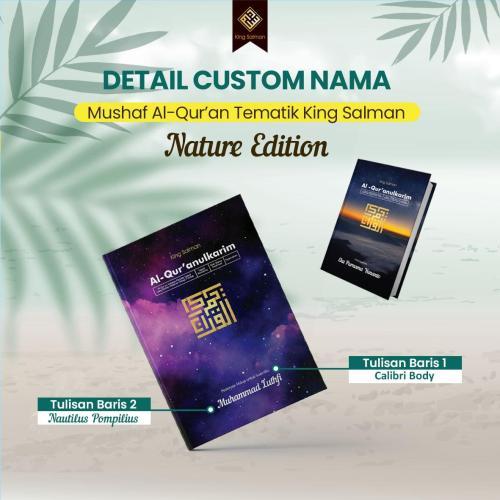 Mushaf Al Quran edisi nature custom nama