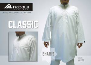 nabawi clothes gamis classic polos putih