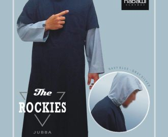 NabawiClothes - Jubah Nabawi Clothes The Rockies Kombinasi Sambung biru
