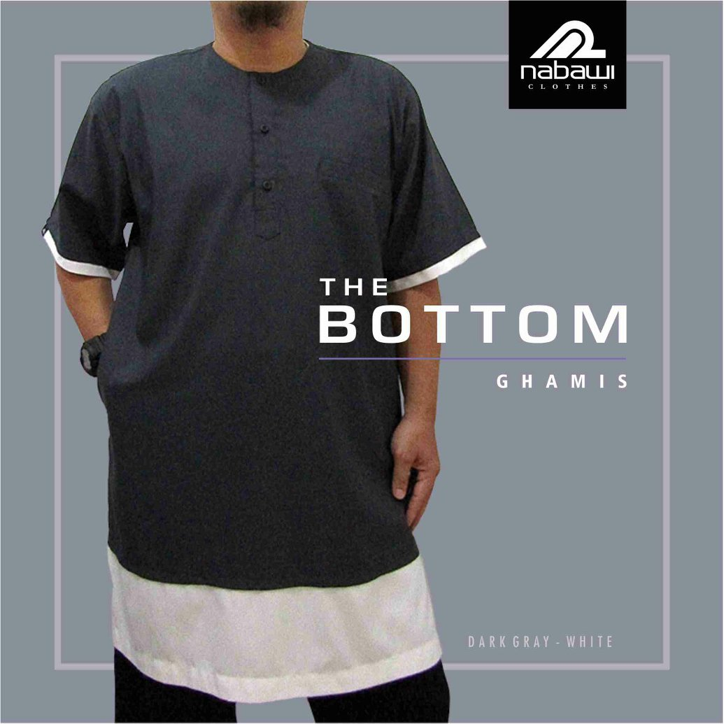 Baju Gamis Koko Pakistan Casual The Bottom Series Nabawi Clothes abu