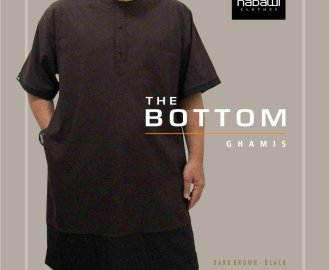 Baju Gamis Koko Pakistan Casual The Bottom Series Nabawi Clothes coklat murah
