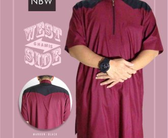 Baju Koko Pakistan Pria West Side Nabawi Clothes Merah