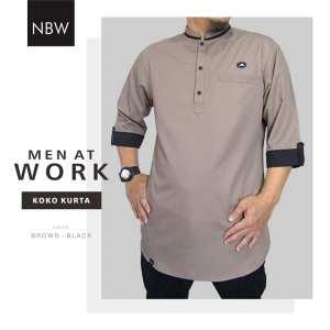Koko Kurta Ikhwan Reglan Men at Work by Nbw coklat
