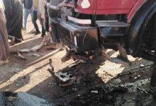 Photo of مصرع 12 شخص في حادث تصادم سيارتين على طريق كفر داود-السادات