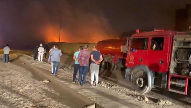 Photo of بعد الدفع بـ 30 سيارة يتم السيطرة علي حريق مصنع العبور