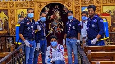 "Photo of ""الشباب والرياضة بالقليوبية"" تطهير دور العبادة من جوالة القليوبية"
