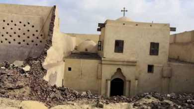 "Photo of إنهيار الحائط الغربي للكنيسة الاثرية "" أبوفانا "" و""الاعلي للاثار"" يحيل الواقعة للنيابة العامة"