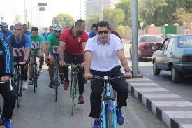 "Photo of ""رياضتك مناعتك"" وزير الرياضة ومحافظ أسيوط يقودان ماراثون للدراجات بشوارع المحافظة"