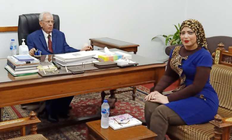 Photo of جيهان رفاعي تحاور الدكتور سعد نصار استاذ الاقتصاد الزراعى بجامعة القاهرة