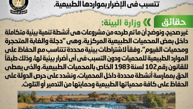 Photo of شائعة: إقامة مشروعات سياحية بالمحميات الطبيعية تتسبب في الإضرار بمواردها الطبيعية