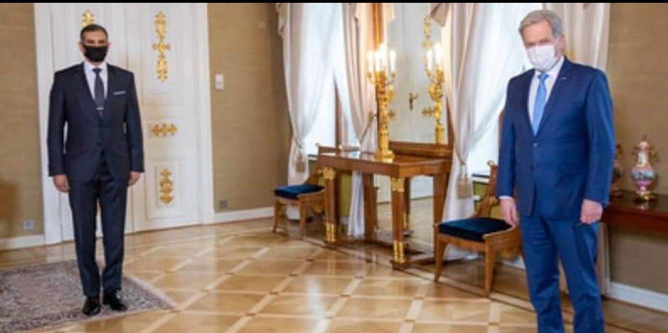 رئيس جمهورية فنلندا يستقبل سفير جمهورية مصر العربية