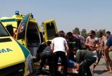Photo of مصرع 2 وإصابة 4 آخرين في حادث انقلاب سيارة بطريق السويس