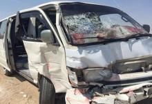 Photo of إصابة 7 أشخاص في تصادم سيارتين أجرة بطريق بنها- القناطر الخيرية