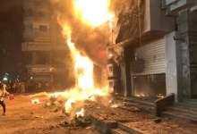 Photo of عاجل  حريق هائل بالملك فيصل شارع ميدان الساعة
