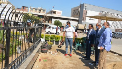 Photo of محافظ القليوبية يقوم بجولة ميدانية لتفقد أعمال ممشى النيل وتطوير ميدان المحطة بمدينة بنها