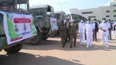 """السودان : الجيش يغوث منكوبي """"طوكر"""" بقافلة دعم"""