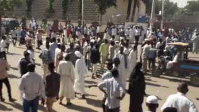 احتجاجات في القضارف تطالب باسقاط الحكومة