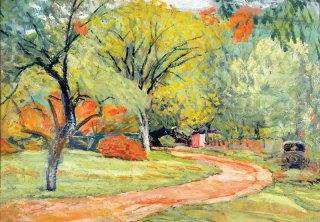 James  Britton: Lane to Oak Grove Farm