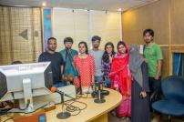 CMA students with Sharaf Qaisar at MAST FM 103