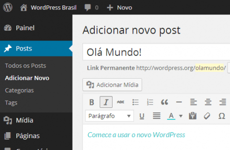 Painel do WordPress