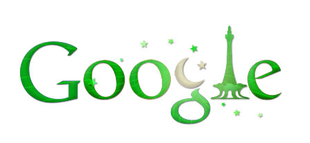 google logo for Pakistan independence day