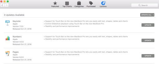 update iWork 9 for Free Pages Keynote numbers 3