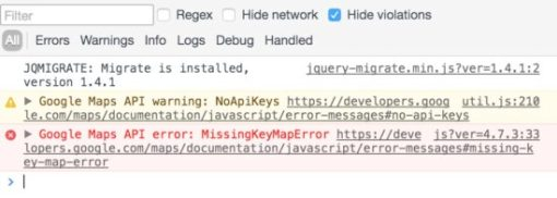 Google Maps API error
