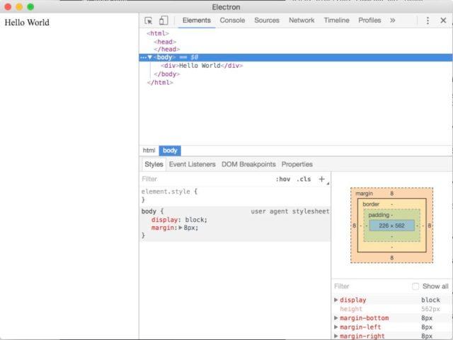electron nodejs macos desktop app