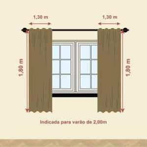 CORTINA BLACKOUT TECIDO PARA JANELA ANELIZA 2,60M X 1,80M DOHLER