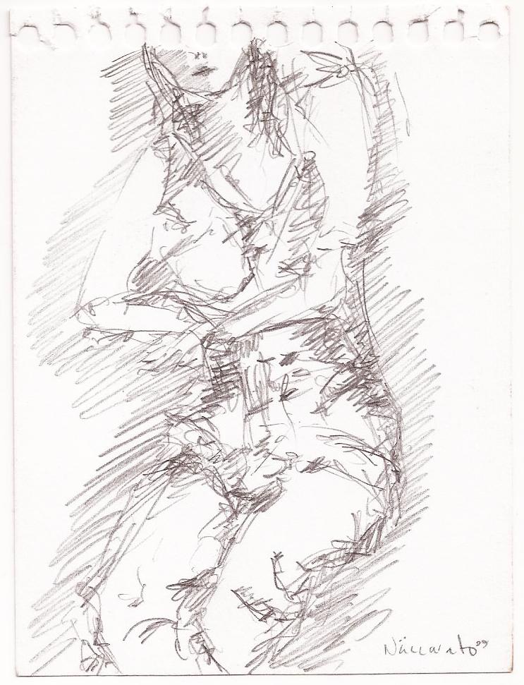 Sketch #03, lead on Paper, 5″ x 8″, Toronto, Naccarato, 1999