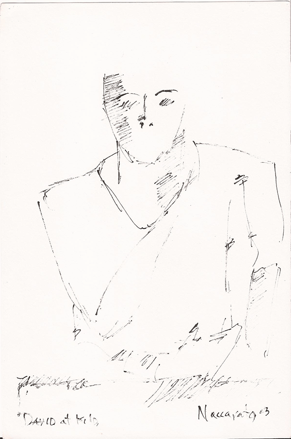 David (Brown), Ink on Paper, 6″ x 10″, Montreal, Naccarato, 2003