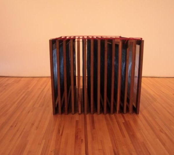 Figure 01: Naccarato, record Record (Hybrid Sculptural Objects), Exhibition Overview: Axeneo7, Gatineau, QC, 2010