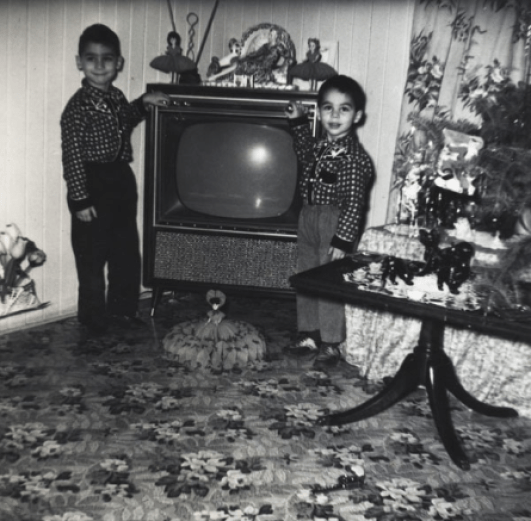Figure 1: B/W Photo. Myself with my brother Joseph (right) taken by my father. 1962. Sault Ste. Marie, Canada