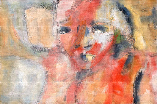"portrait #5, portrait studies, oil on paper, 24"" x 18"", naccarato, Montreal, 2002-2004"