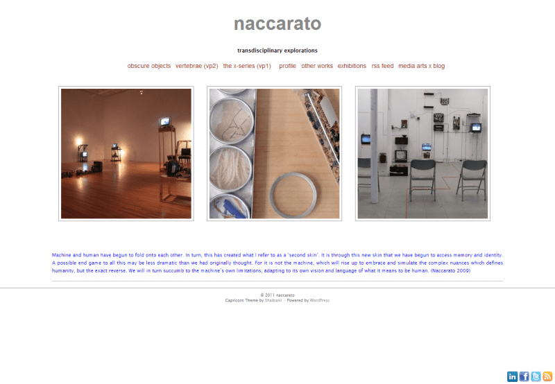 Naccarato.org Website, Wayback Machine, Internet Archive, June, 2011